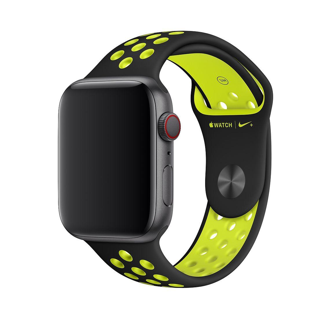 40mm Black/Volt Nike Sport Band S/M & M/L Apple