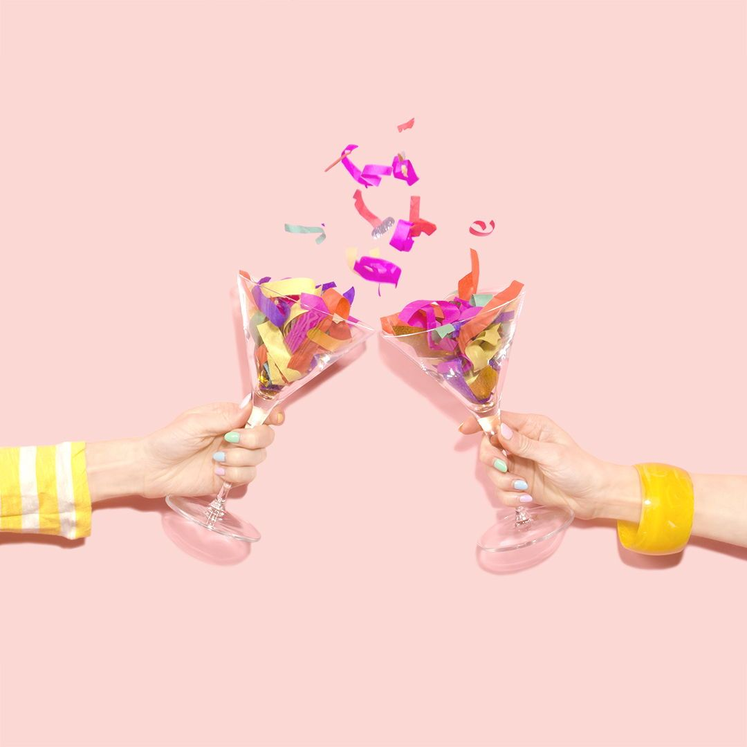 Confetti Cheers | Amy Shamblen Creative, Art Direction, Colorful Content Creation, Photo Styling, Surreal Photography #artdirection