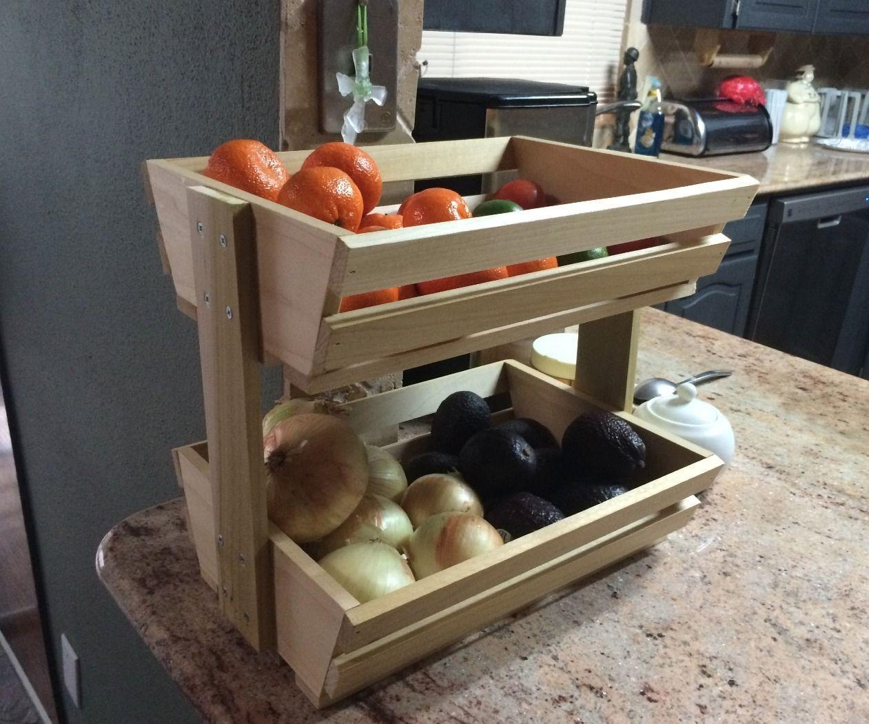 Easy Fruit Veggie Holder Diy & Crafts Woodworking