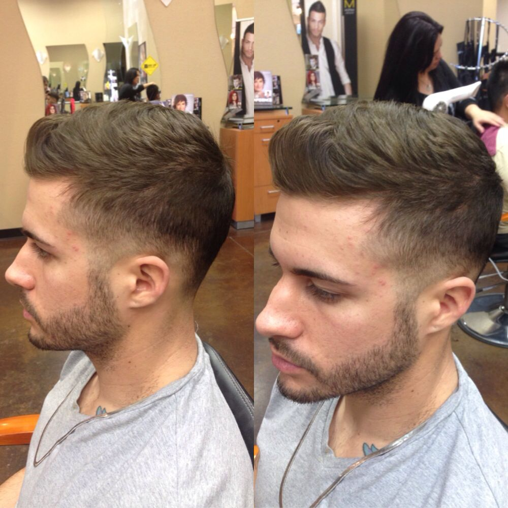 bad fade. men's hairstyle. zone
