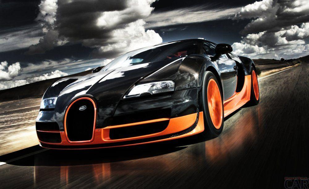 A foto é muito rápido e eficiente máquina de Bugatti Veyron