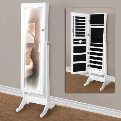 32+ White standing mirror with jewelry storage information