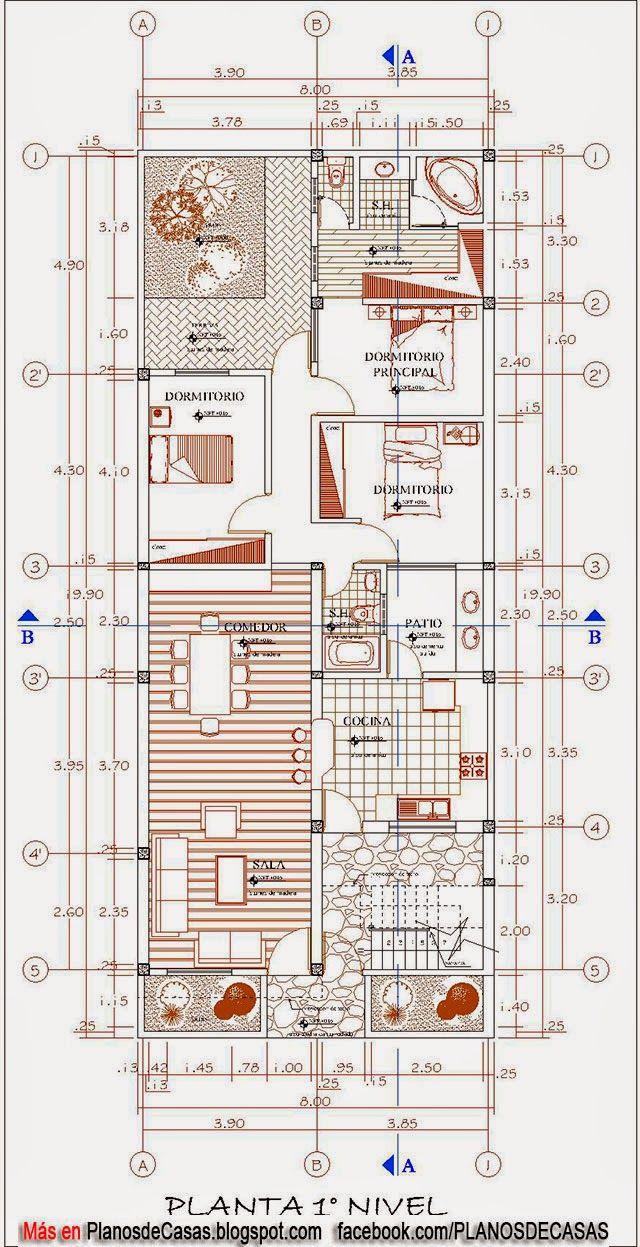 Planos de vivienda multifamiliar planos pinterest for Planos arquitectonicos vivienda