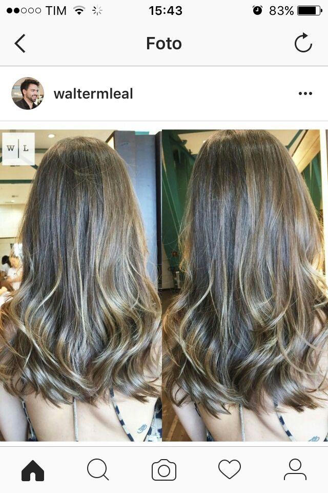 Corte Reto Leve Luzes Douradas Black Hair Hair Cuts Hair Long