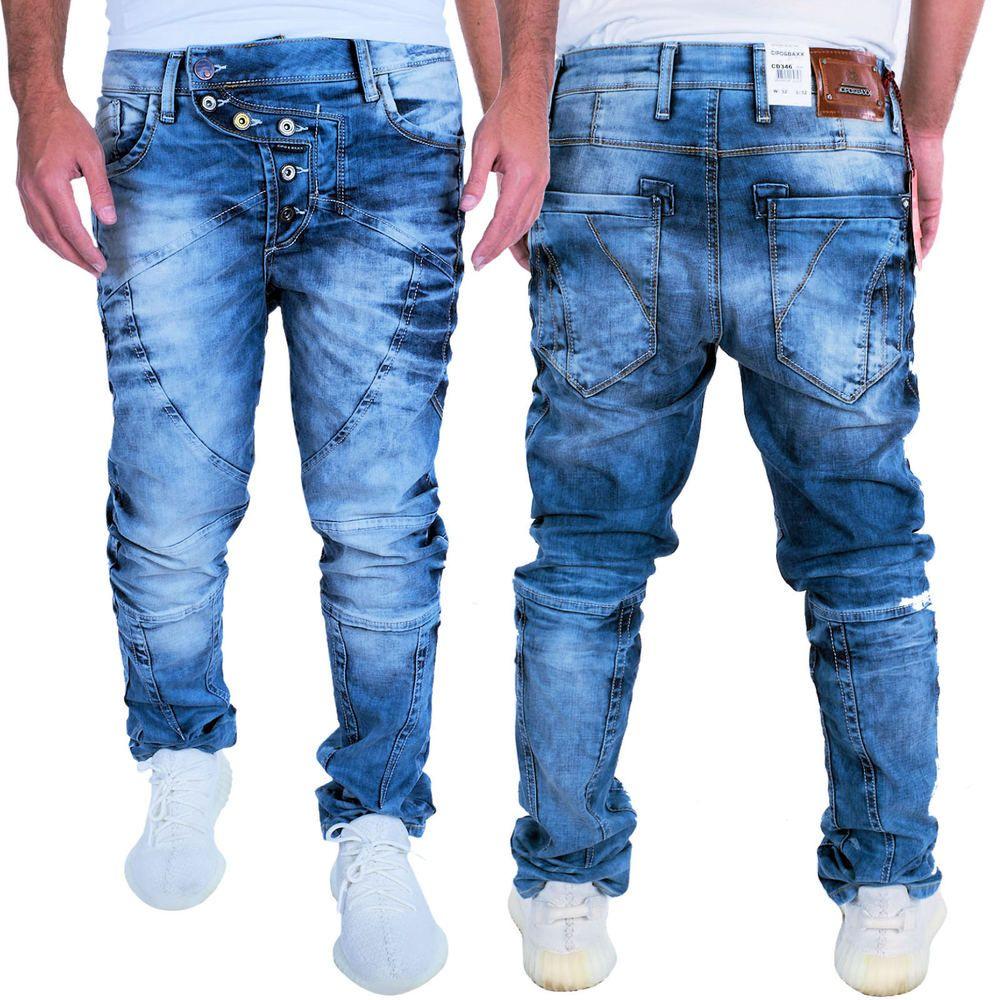 Jeans Herrenjeans Hose Denim Pants Slim Fit Used Design Herren