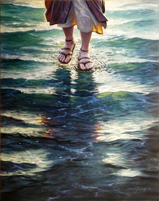 Jesus Walks On The Water Painting By An Unknown Modern Artist Faith Jesus Life