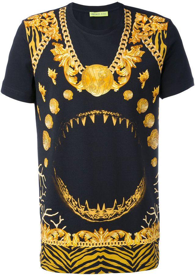 5dff7ead Versace T-Shirt mit Hai-Print - men - Baumwolle/Elastan - L - ShopStyle.