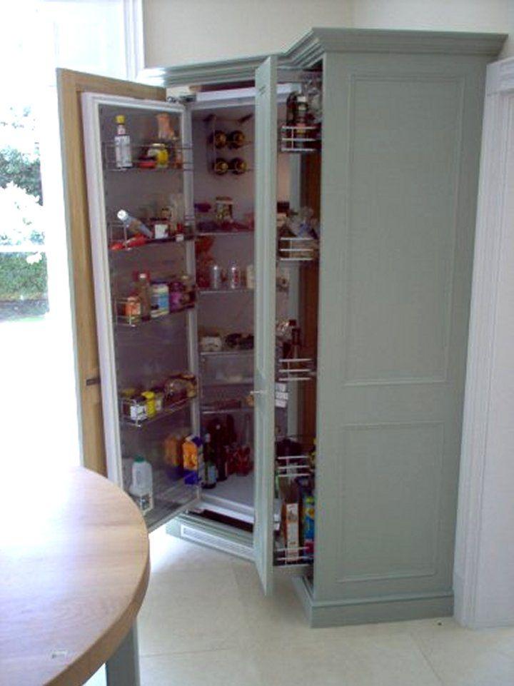 corner fridge with pull out larder unit kitchen pinterest larder unit corner and kitchens. Black Bedroom Furniture Sets. Home Design Ideas