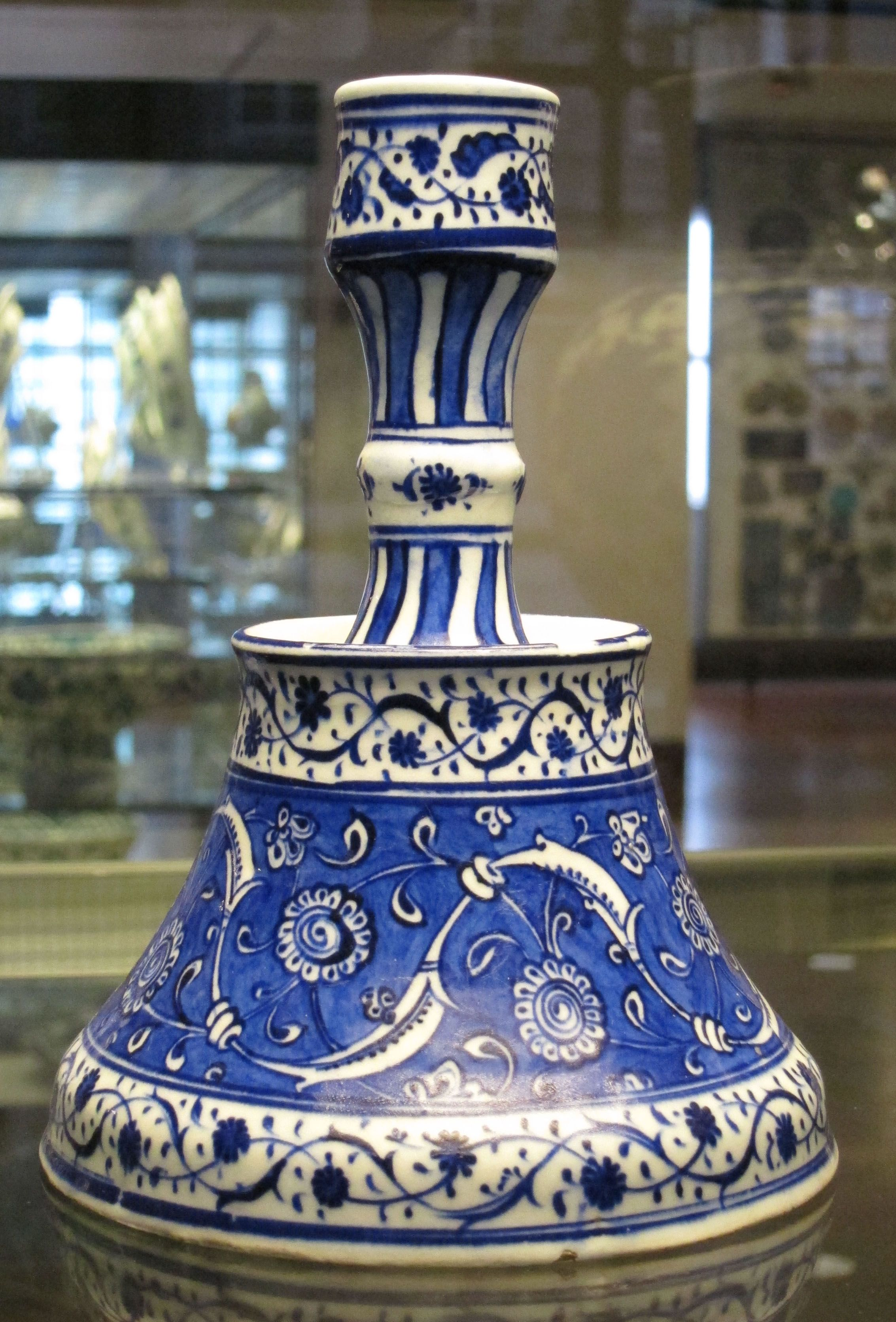 Iznik candle holder ca 1525. | Iznik Ceramic Tiles and Pottery ...