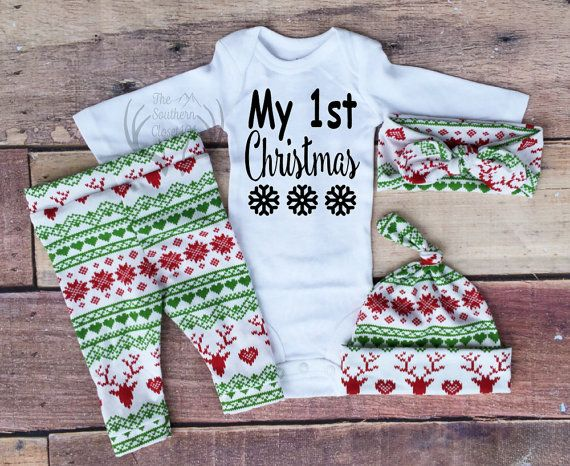 532a24e4fcd70 Baby Girl Christmas OutfitMy 1st Christmas My First Girl | baby ...