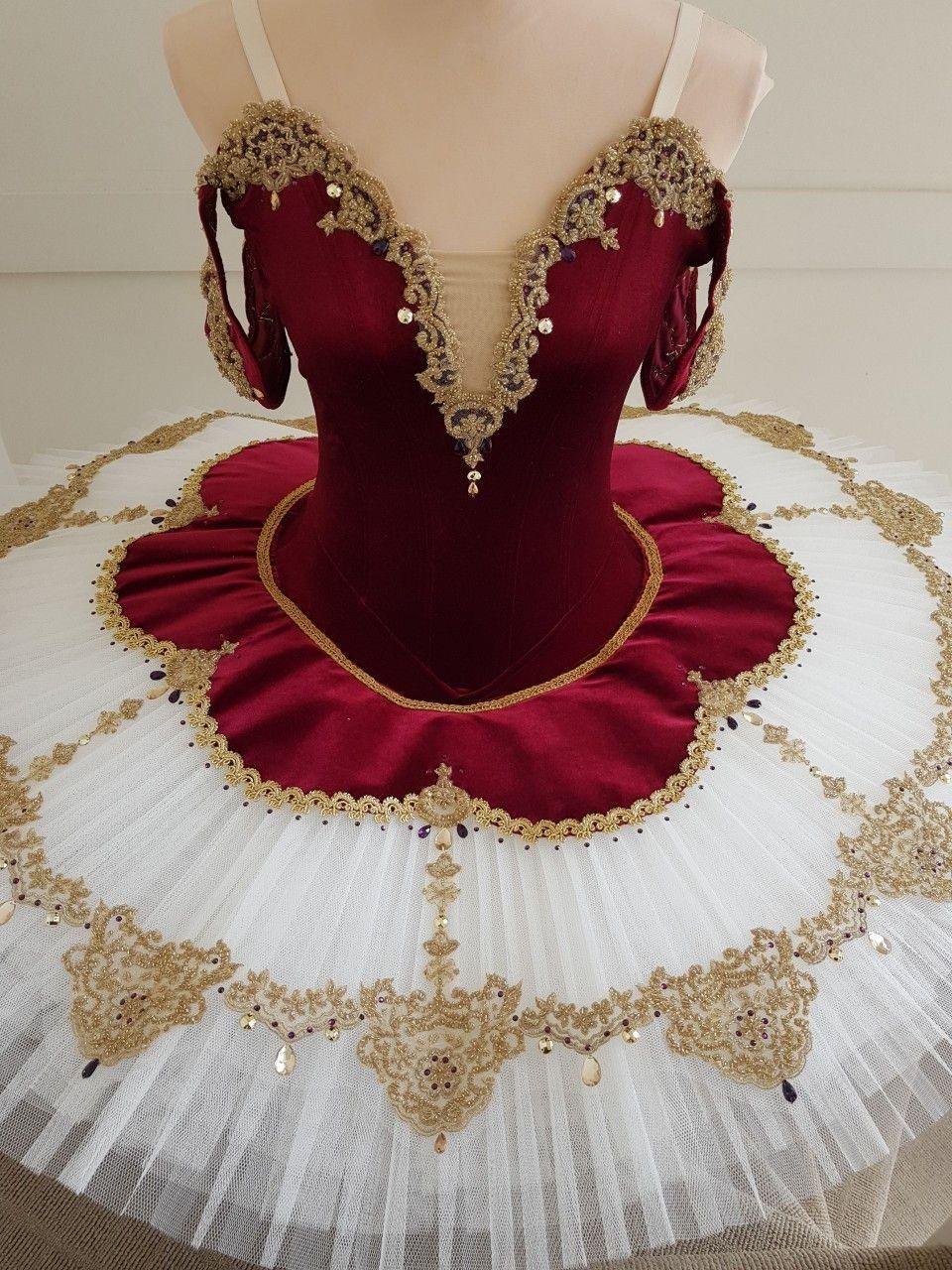 Gorgeous Wine And Ivory Tutu With Gold Decorations Www Jetutus Com Au Con Imagenes Ropa De Danza Ropa De Ballet Trajes De Ballet