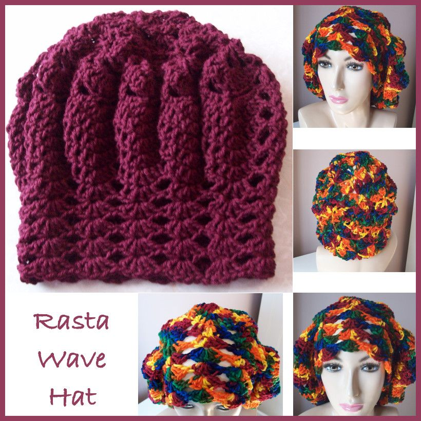 Rasta Wave Hat ~ FREE Crochet Pattern | crochet for pets | Pinterest ...
