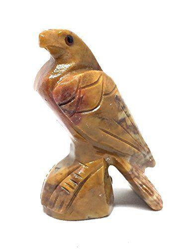 Eagle Soapstone Animal Carving Charm Totem Figurine 225 The