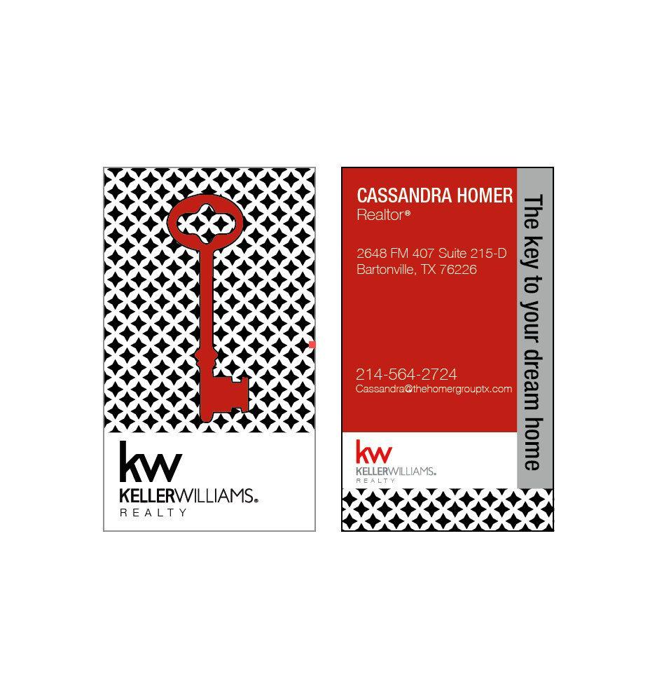 Real estate Business Cards B&W KEY card Modern Realtor Keller ...