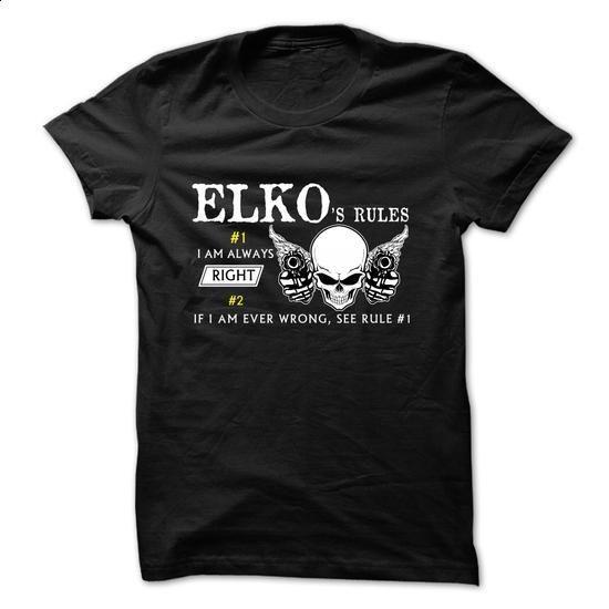 ELKO RULE\S Team - #boho tee #sweatshirt refashion. SIMILAR ITEMS => https://www.sunfrog.com/Valentines/ELKO-RULES-Team.html?68278