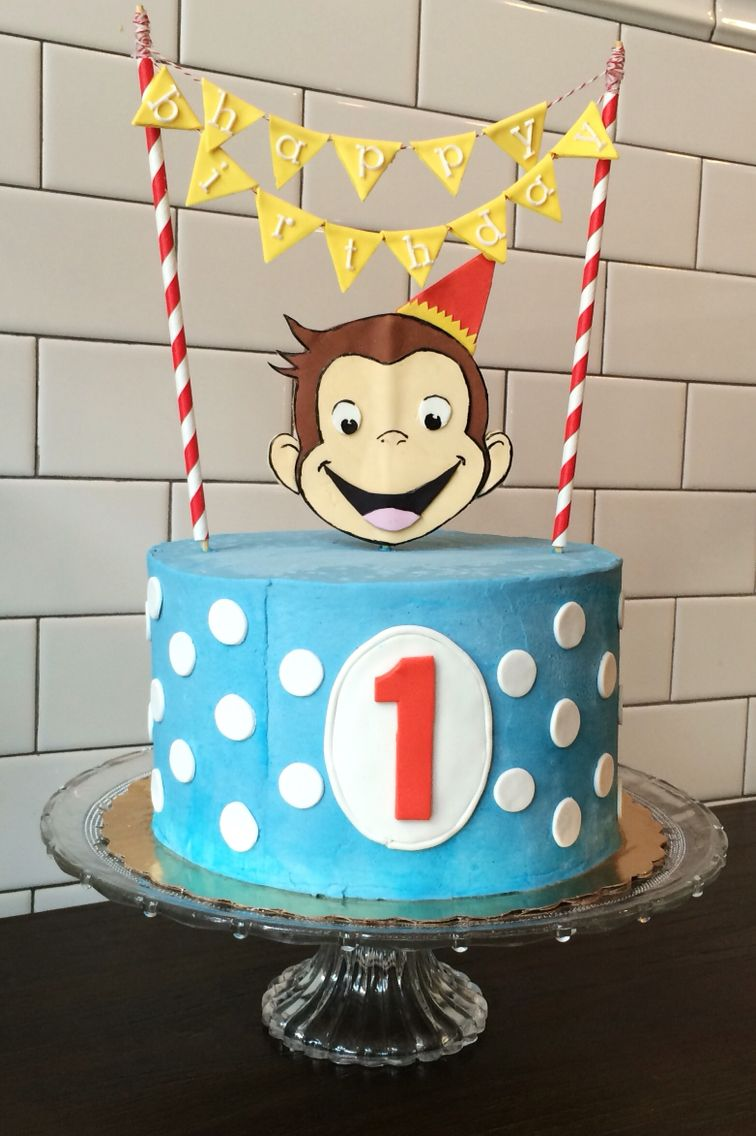 Curious George 1st Birthday Cake With Images Curious George