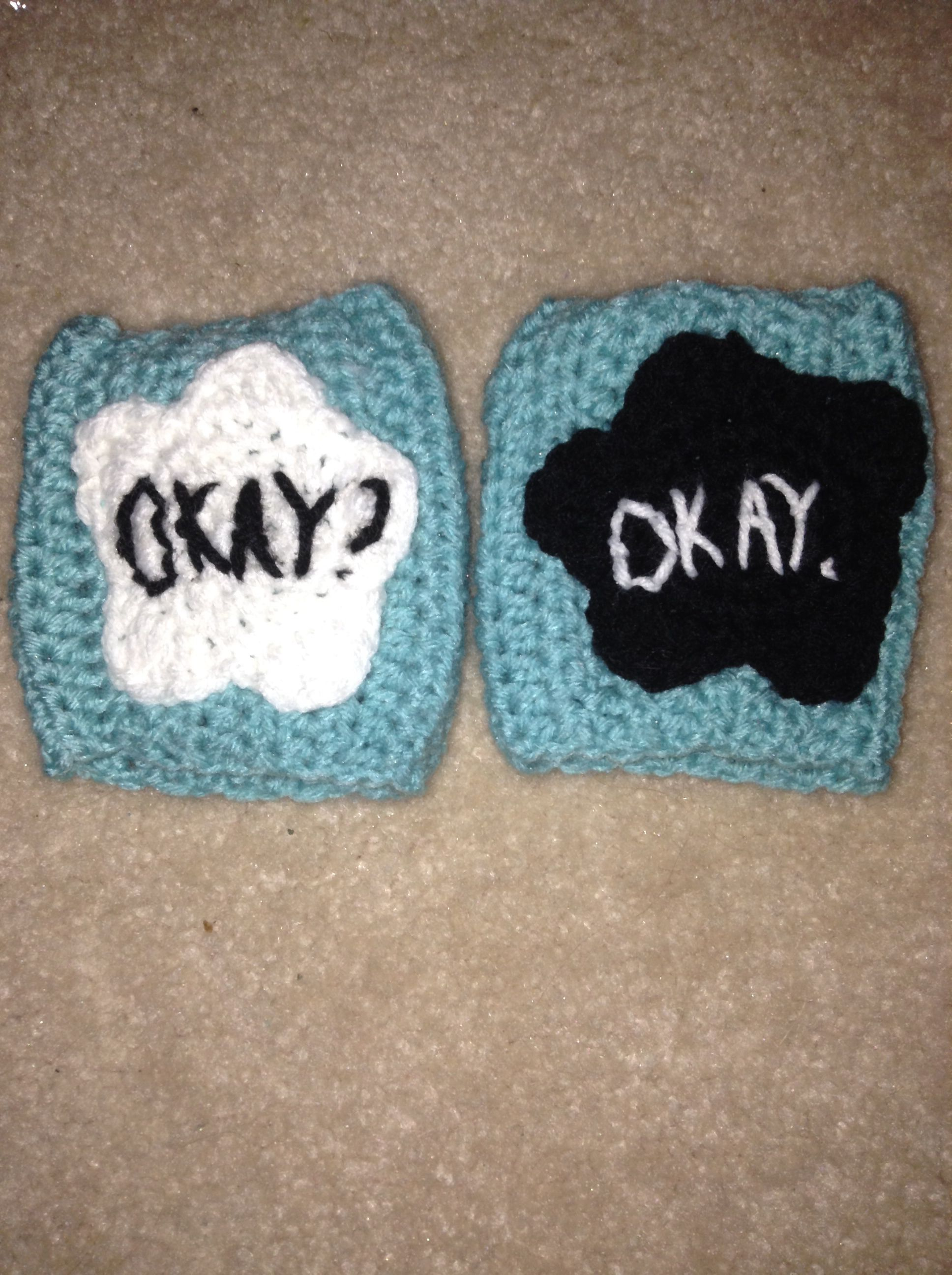 Crochet Tfios gloves. Sorry no pattern :( just made it up as I went along
