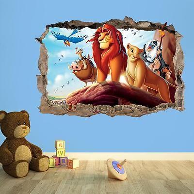 lion king 3d breakout kids wall sticker vinyl wall on wall stickers 3d id=58246
