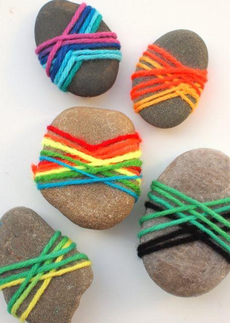 Lovely Yarn Wrapped Rocks