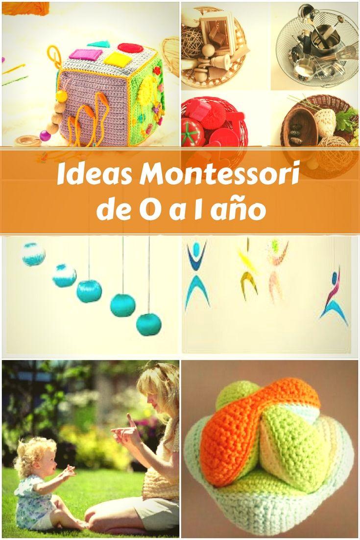 Ideas Montessori Para Bebés De 0 A 1 Año Muchas Ideas Creativas Diy Cucumama Creative Montessori Bebé Actividades Montessori Materiales Montessori