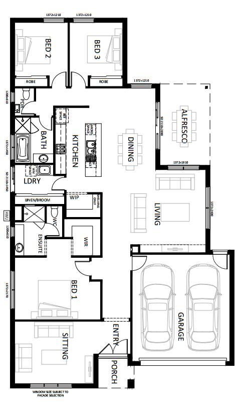 Ground Floor Plan Denah Rumah Rumah