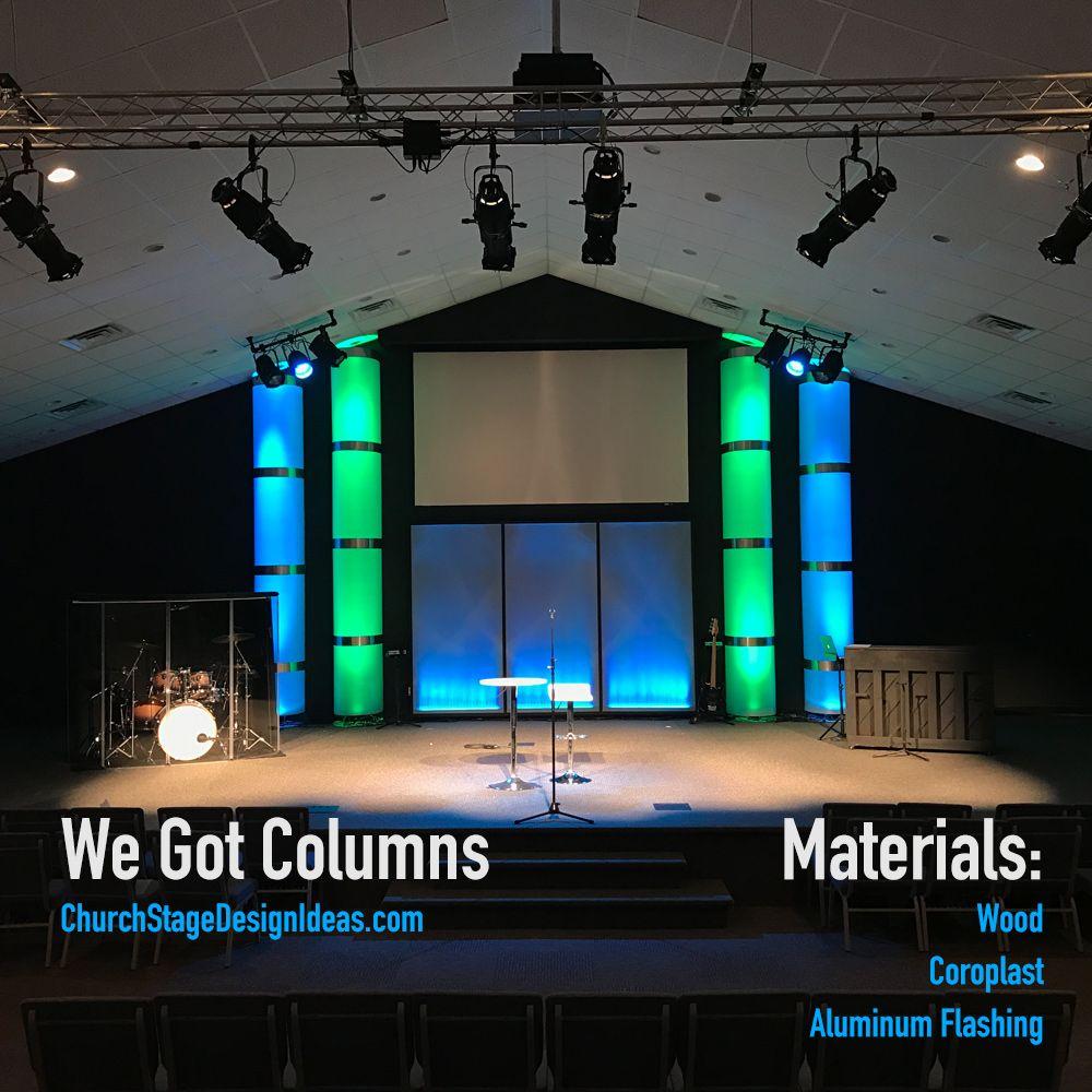 We Got Columns Church Stage Design Church Stage Design Ideas Backdrops Stage Design
