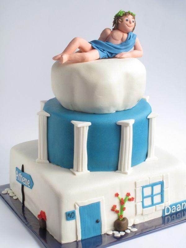 Cake Similar To Man On Bear Skin Rug