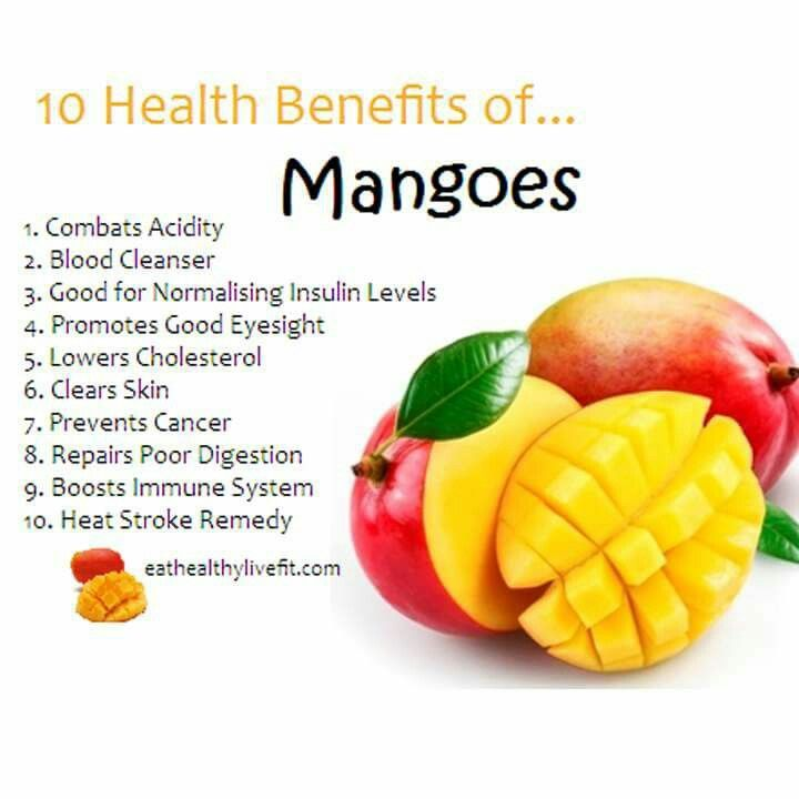 what is the nutritional value of mango fruit