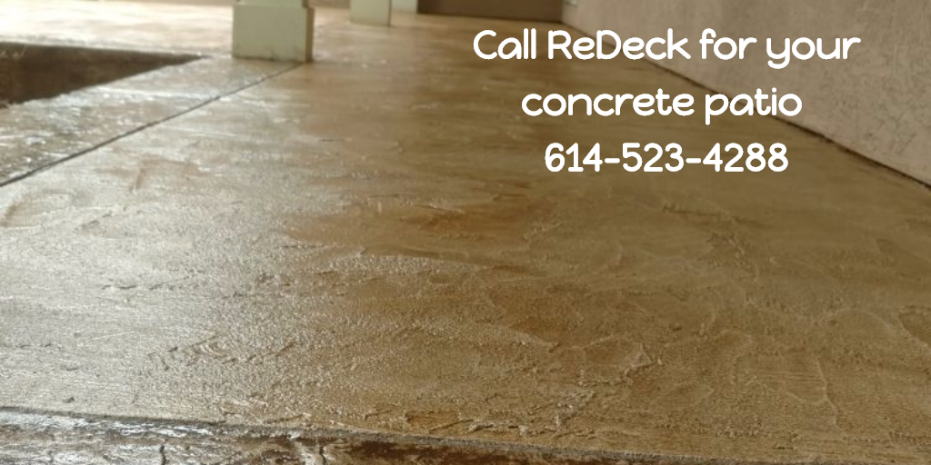 Call ReDeck for your concrete patio 6145234288
