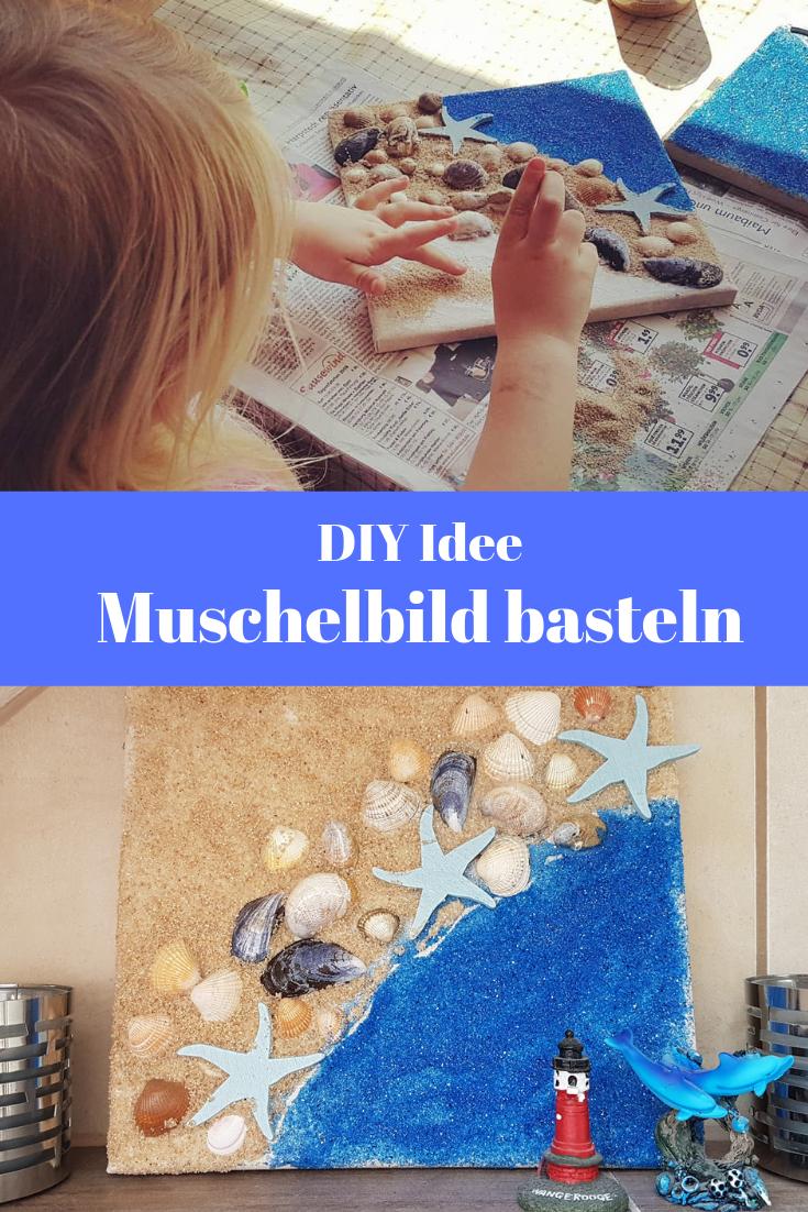 DIY Idee Muschelbild basteln