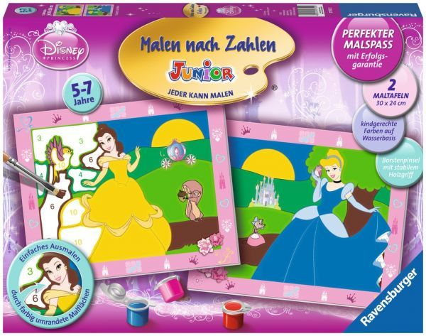 Ravensburger Malen Nach Zahlen Cinderella Und Belle Junio Malen Nach Zahlen Disney Ausmalen