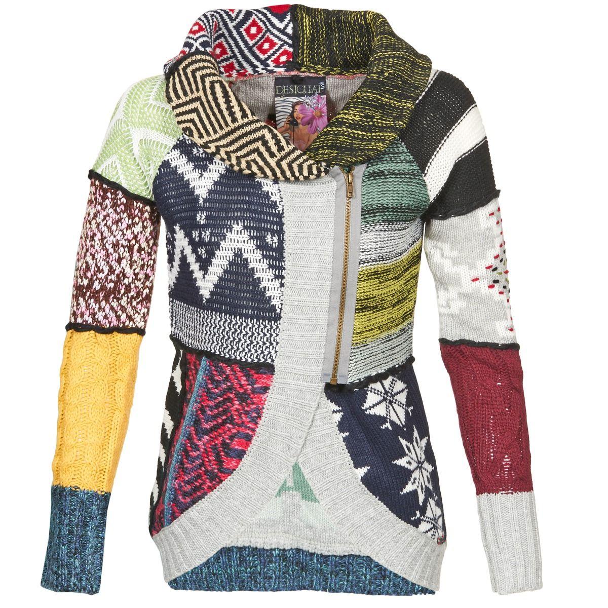 Veste laine femme multicolore