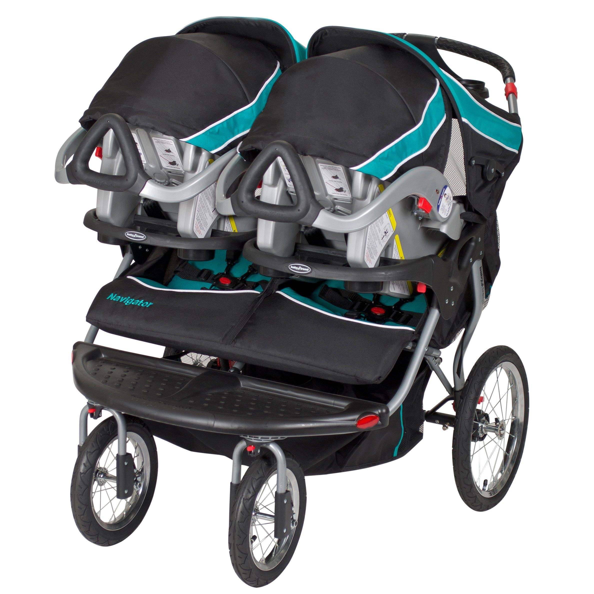 Baby Trend Navigator Double Jogger Stroller Tropic Perfect