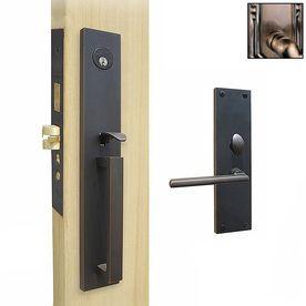 Double Hill Antique Brass Mortise Lock Keyed Entry Door Handleset Smart Door Locks Doors Lowes Home Improvements