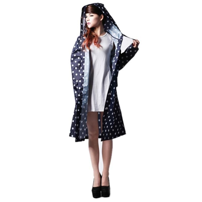 Visit to Buy] Hot Sale Dot Cute Womens Raincoats Outdoor Travel ...