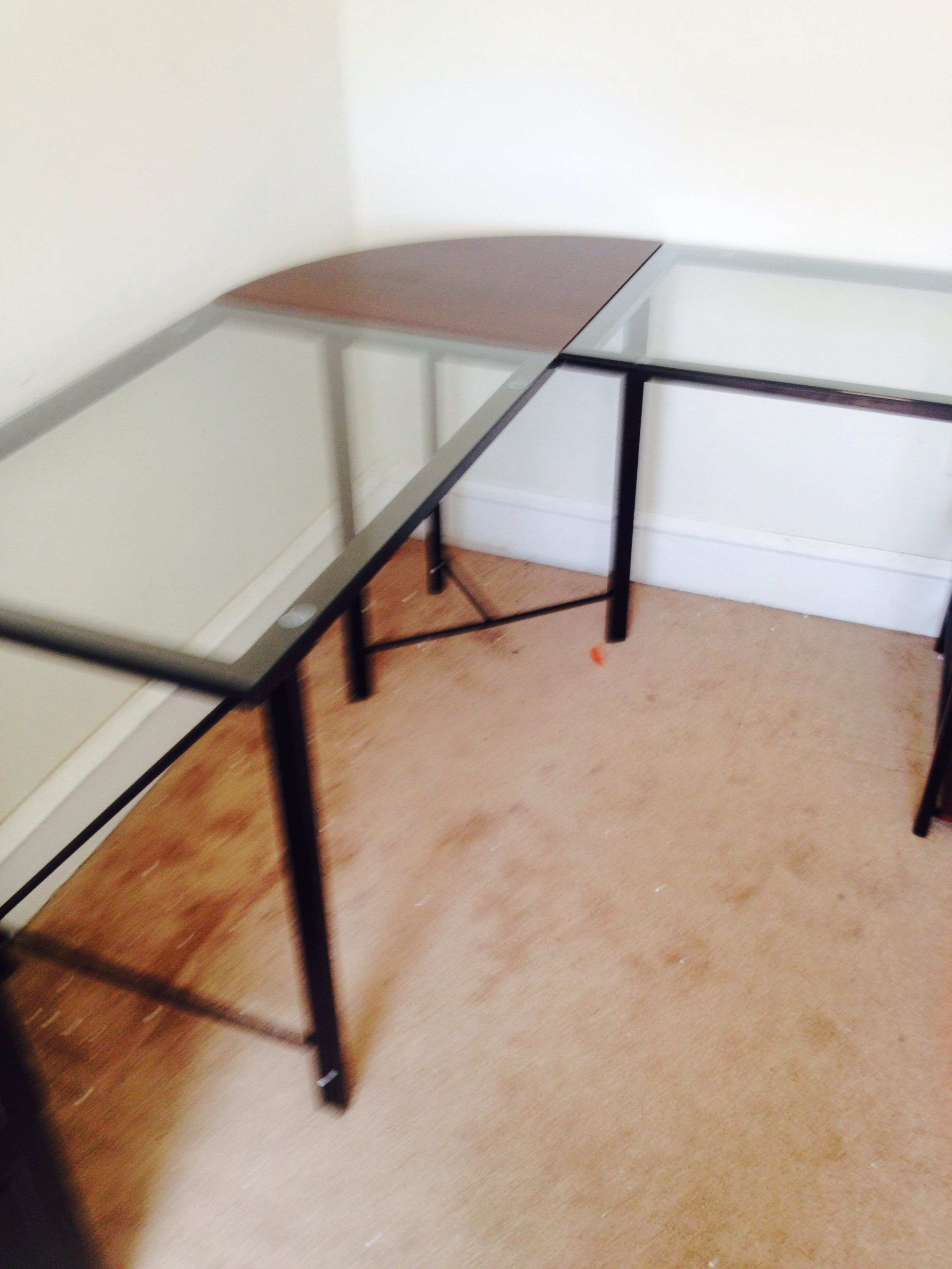 Glass Top Desk I Recommended For Client S Desk So Home Office