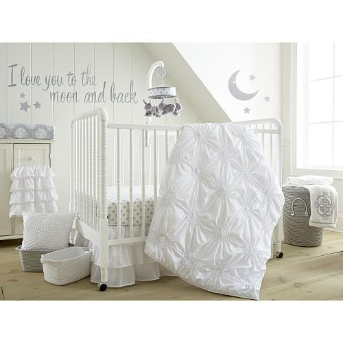 levtex baby willow 5 piece crib bedding set white levtex baby babies r us 190 baby. Black Bedroom Furniture Sets. Home Design Ideas