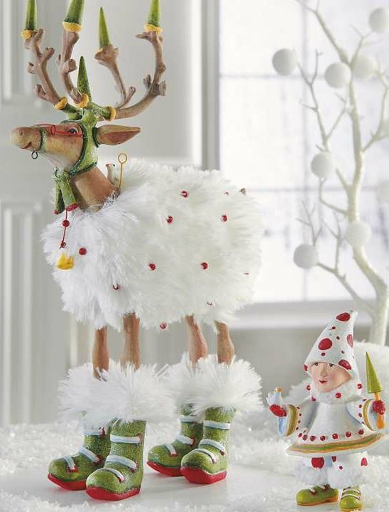 Boasting a fluffy and whimsical design, the Patience Brewster Blitzen's Tree Dash Away Elf Character is the perfect way to add a touch of fun to your Christmas display.