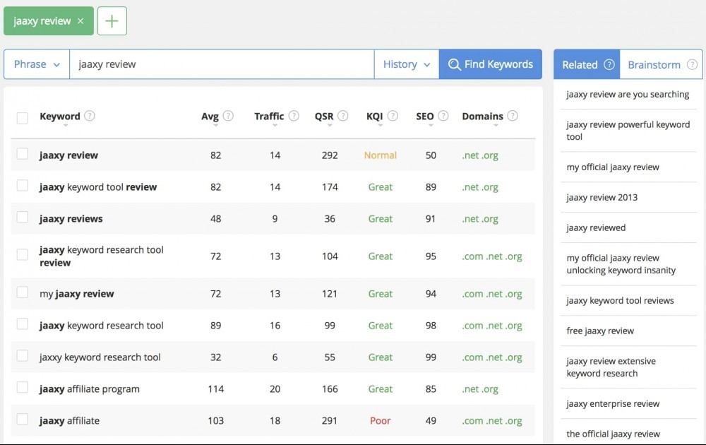Jaaxy Keyword Search Seo Keywords Search Tool Search