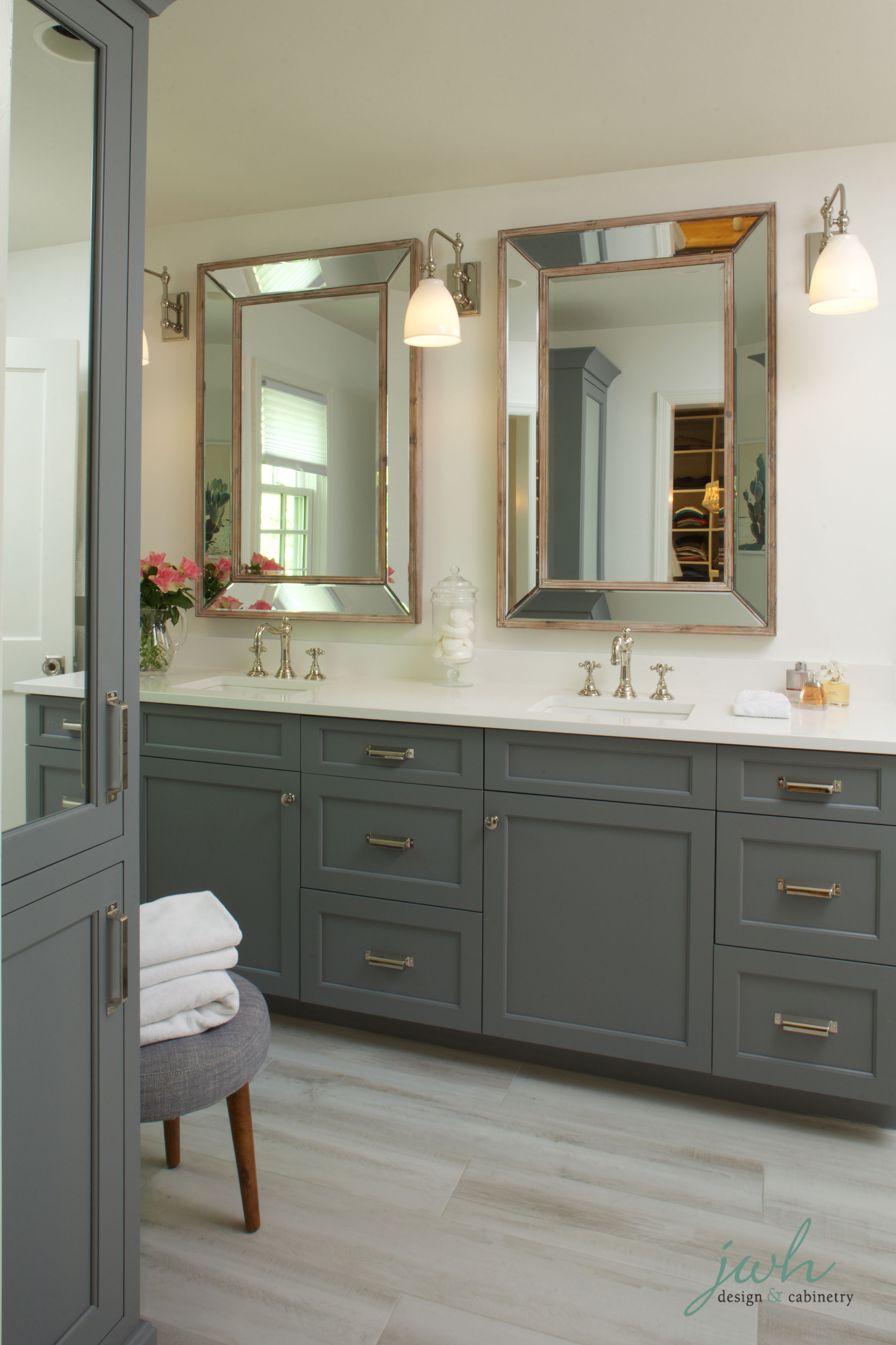 Sophisticated And Modern Bathroom Design Cabinetry