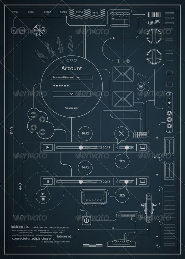 Blueprint infographics drawing a schematic abstrac infographics blueprint infographics drawing a schematic abstrac malvernweather Image collections
