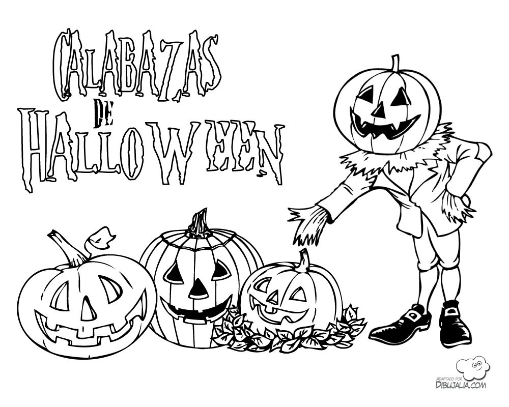 CALABAZAS DE HALLOWEEN Halloween para colorear, Dibujos