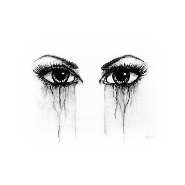 illustration art eyes dark tears sadness realistic liked on