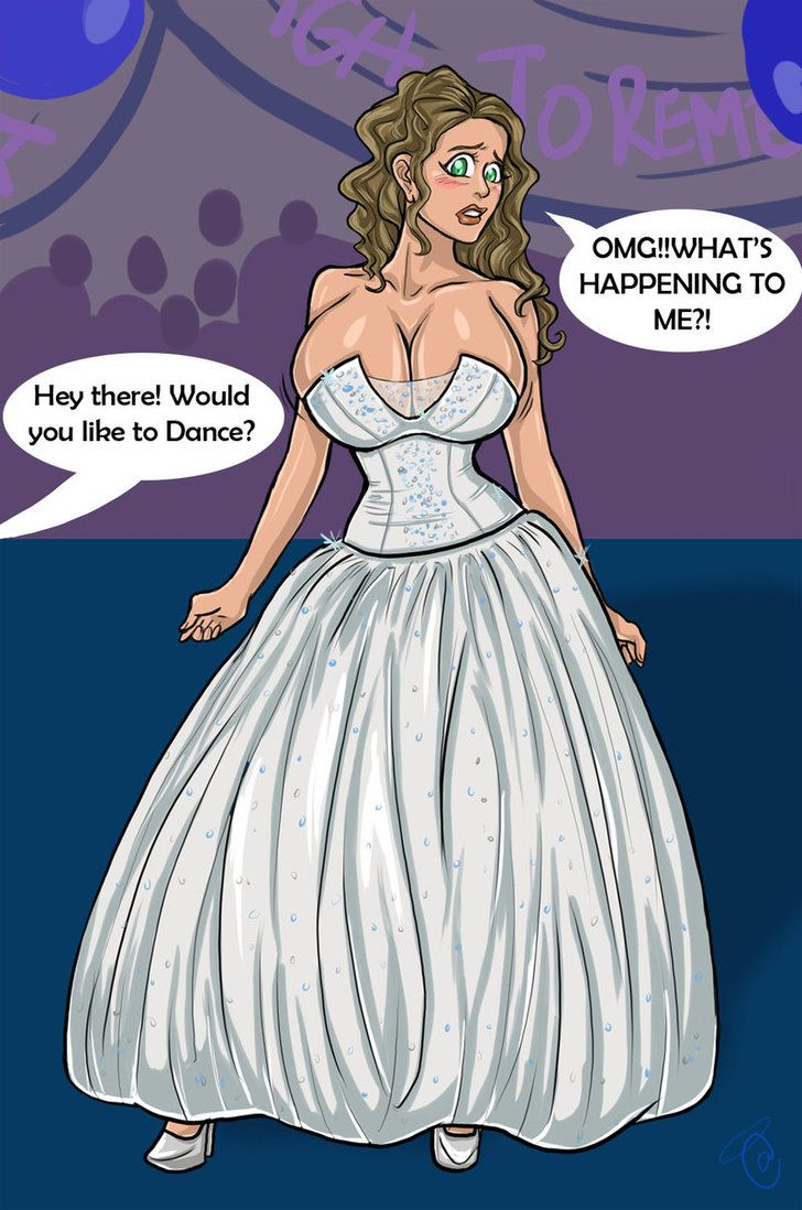 Commission - Busty Prom Dress by Kitty-Marshmallow on DeviantArt ...