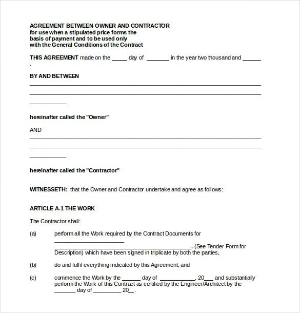 payment agreement templates free sample example format letter - contract agreement between two parties