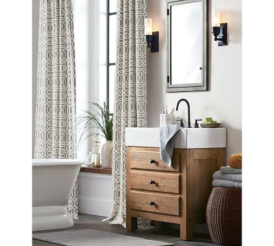 Mason Reclaimed Wood Single Sink Console, Wax Pine Finish