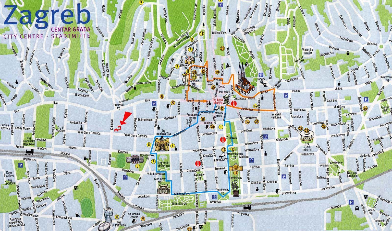 zagreb mapa Awesome Plan De Zagreb Gallery   Joshkrajcik.us   joshkrajcik.us zagreb mapa