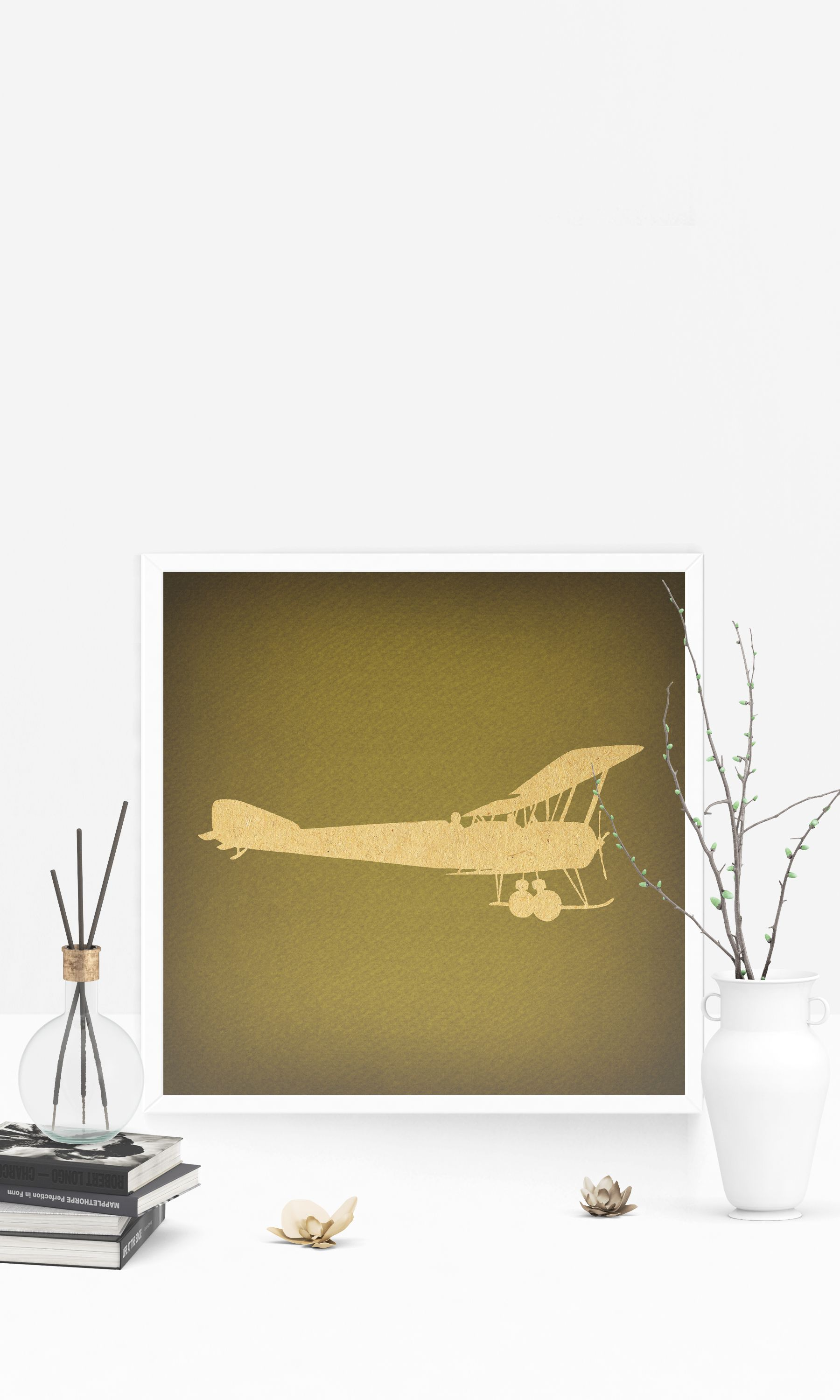 Classic Vintage Airplane Wall Art Print Home Decoration Antique ...
