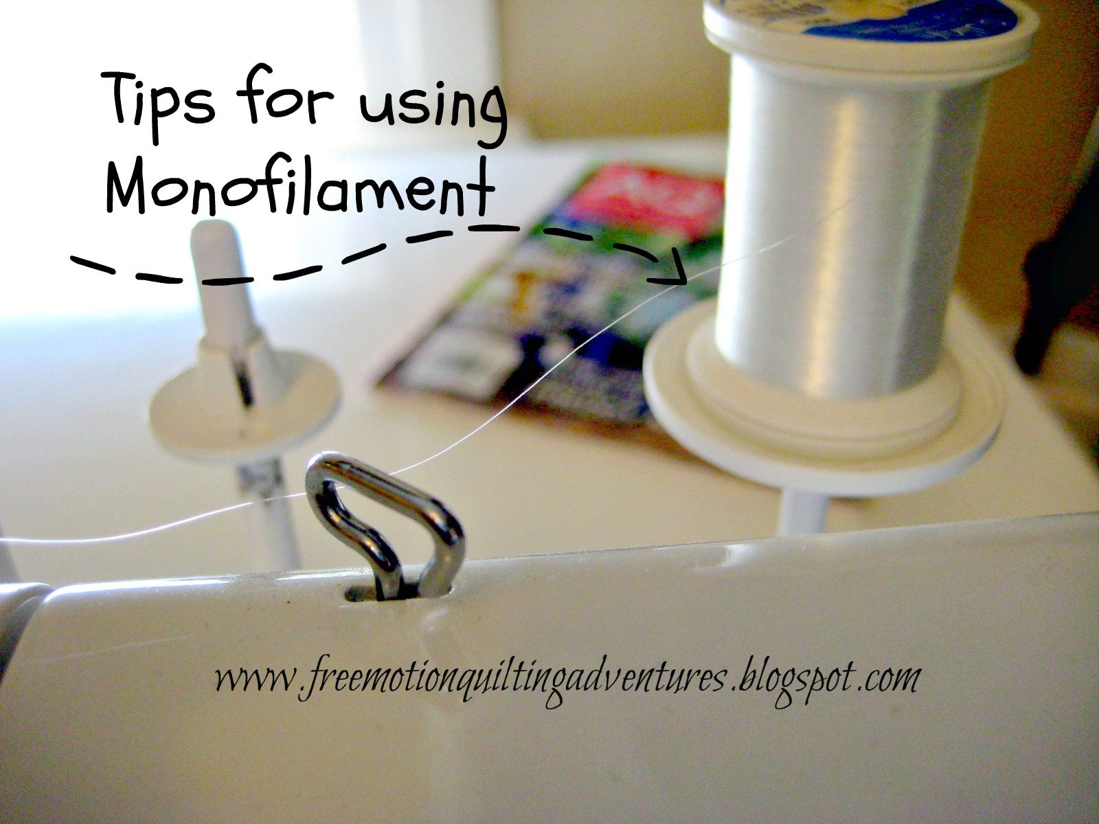 Tips For Using Monofilament Free Motion Quilting Quilting Tutorials Quilting Tips
