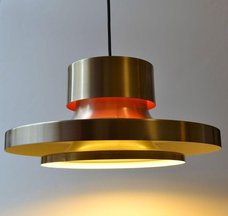 Danish modern pendant lamp light 1960s space age aluminum for Eames lampe